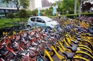 """一度风光无限的共享单车行业开始""""退烧"""""""